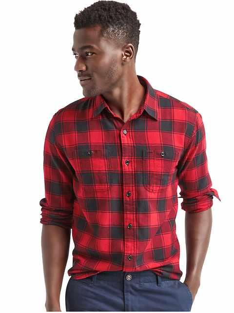 Buffalo Check Flannel Mens Shirt