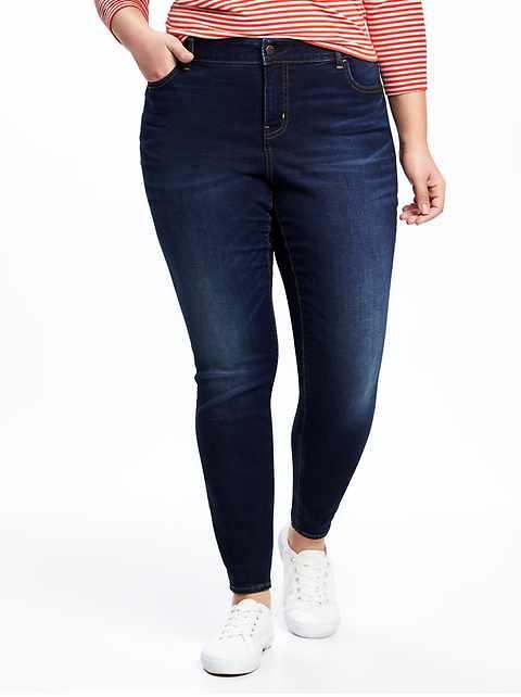 4eafb3e278043 High-Rise Secret-Slim Pockets Plus-Size Skinny Rockstar Jeans