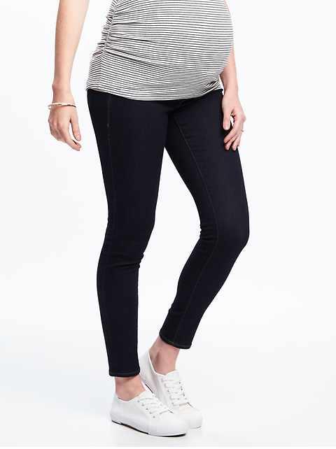 4354f6739b4f2 Maternity Premium Full-Panel Rockstar Jeans