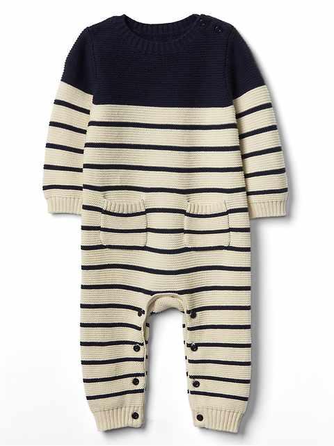 aede13546 Baby Stripe Garter One-Piece
