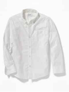 bb9d815dd8d64 Lightweight Built-In Flex Oxford Uniform Shirt for Boys