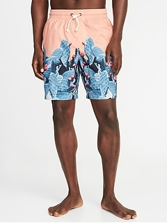 1e2c1e0b0f7ab Printed Swim Trunks for Men - 8-inch inseam