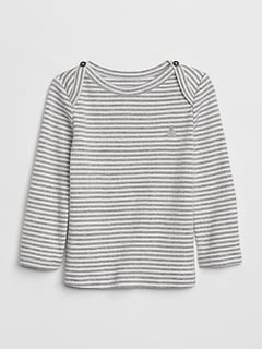 5edb17634e57 Baby First Favorite Stripe Long Sleeve T-Shirt