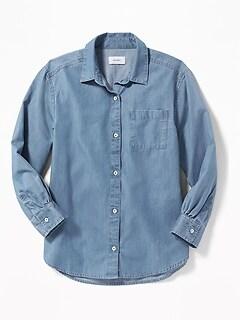 Oldnavy Chambray Boyfriend Tunic Shirt for Girls