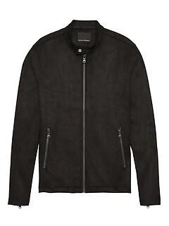 4a29f9022f47ce Vegan Suede Moto Jacket