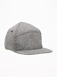 1d80415a0e028 Herringbone Flannel Baseball Cap for Toddler Boys