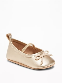 Metallic Faux-Leather Ballet Flats for Baby 4cb5e06b7c1d
