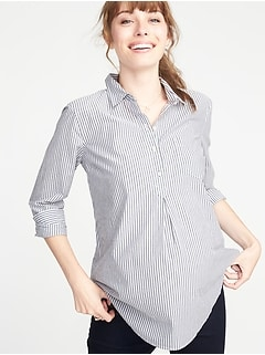 aef83d4a867 Maternity Striped Popover Shirt