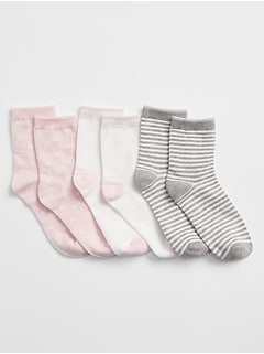 1 Pair New Girls Kids Children Solid White GAP Crew short school Socks