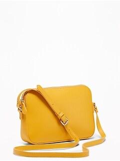 d7035e24e3c0 Faux-Leather Cross-Body Bag for Women