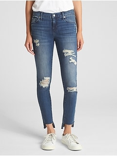Washwell Low Rise True Skinny Jeans with Destruction b9c327c6e0a
