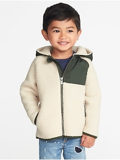 c9fea945679 Hooded Color-Block Sherpa Jacket for Toddler Boys