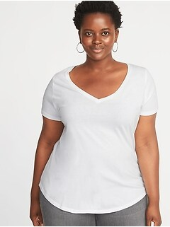 1716a3002ce EveryWear Plus-Size V-Neck Tee