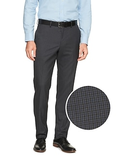 7d94467403f Slim-Fit Stretch Navy Check Trouser