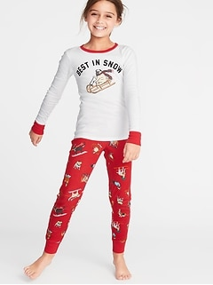 Holiday-Graphic Sleep Set for Girls c198929a1