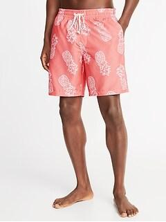 925353ad20 Printed Swim Trunks for Men - 8-inch inseam