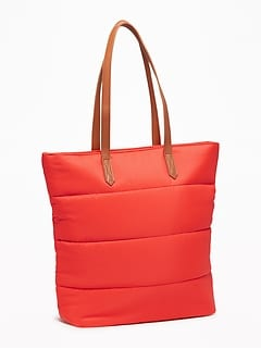 Quilted Nylon Tote For Women