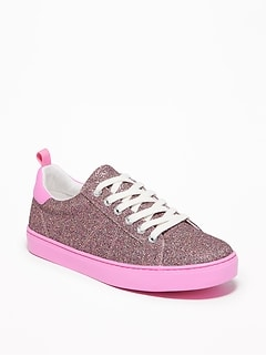 14721a1ba5782 Glitter-Covered Sneakers for Girls