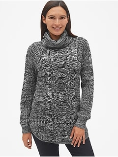 7aadcd9b0b Maternity Cable-Knit Turtleneck Pullover Sweater