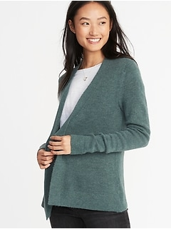 Plush-Knit Open-Front Sweater for Women 89afff2f0