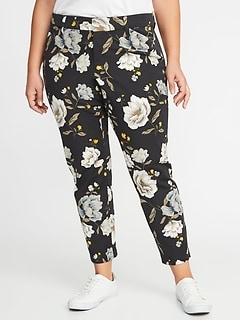 8a0e046e5f408 Mid-Rise Secret-Slim Pockets Plus-Size Pixie Ankle Pants