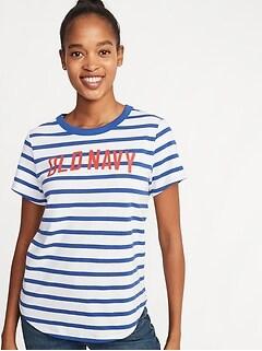 a804cc91538464 EveryWear Logo-Graphic Tee for Women