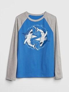 Graphic Raglan T Shirt