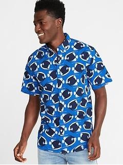 74ece465b346 Slim-Fit Built-In Flex Printed Everyday Shirt for Men