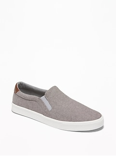 Oldnavy Mixed-Fabric Slip-Ons for Men