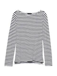 Slub Cotton-Modal Boat-Neck T-Shirt 7a2056888