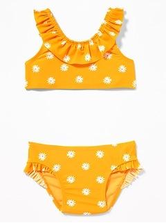 8ec15ae035f03 Printed Ruffle Bikini Swim Set for Toddler Girls