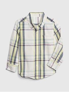 2d68a4f1 Toddler Plaid Button-Down Long Sleeve Shirt