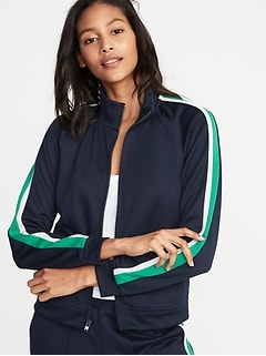 Sleeve-Stripe Track Jacket for Women b79fc8e2599c3