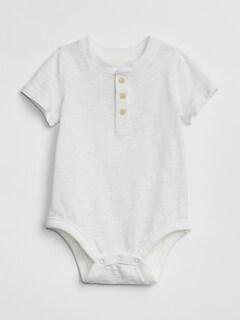 200371181366 Henley Short Sleeve Bodysuit
