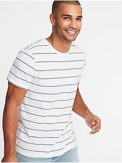 f70bf6a5746 Striped Soft-Washed Crew-Neck Tee for Men