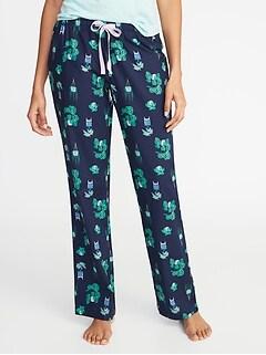 305a8a1f6199c Printed Poplin Sleep Pants for Women