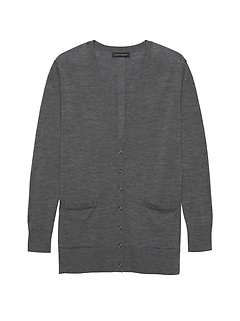 cd8e7eb5c9 Washable Merino Boyfriend Cardigan Sweater
