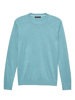 879a511ed5c8b Silk-Linen Crew-Neck Sweater