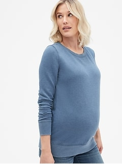 ffe86b1ed40 Maternity Vintage Soft Pullover Sweatshirt in French Terry