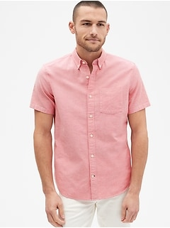 eaeb9327c383 Lived-In Stretch Oxford Short Sleeve Shirt