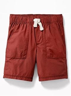66974607b4 Functional Drawstring Poplin Shorts for Toddler Boys
