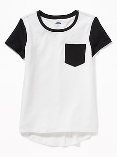 dbdbcd61 Relaxed Softest Pocket Tee for Girls