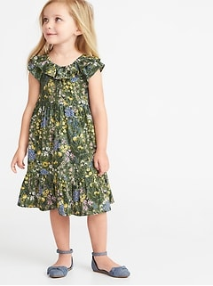 7d5e625c219 Floral Tiered Swing Dress for Toddler Girls