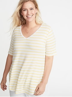 5163525d687 Luxe V-Neck Elbow-Sleeve Plus-Size Tunic Tee