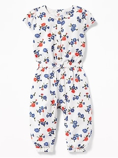 f68f9fe7802e Printed Linen-Blend Jumpsuit for Baby