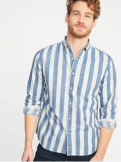 6098e7c131 Slim-Fit Striped Twill Everyday Shirt for Men