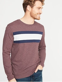 ec1a0176daa Soft-Washed Color-Block Chest-Stripe Tee for Men