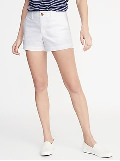 ff6352621 Mid-Rise Twill Everyday Shorts for Women - 3 1/2-inch inseam
