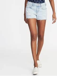 3481f39f4a8 Distressed Boyfriend Denim Cutoffs for Women - 3-inch inseam