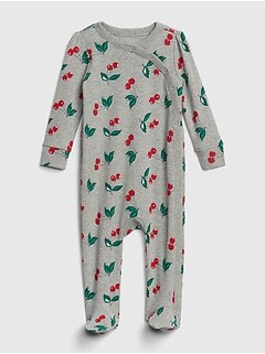 d1e7813f9 Baby Cherry Kimono Footed One-Piece